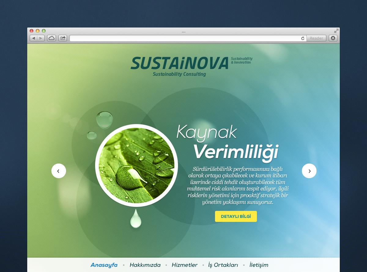 Sustainova - Web Sitesi Tasarımı