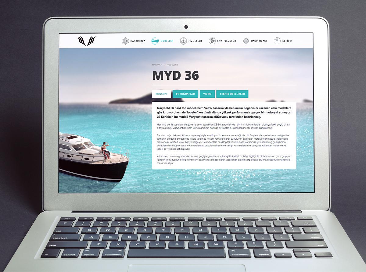 Maryacht Web Sitesi Tasarımı ve Uygulanması