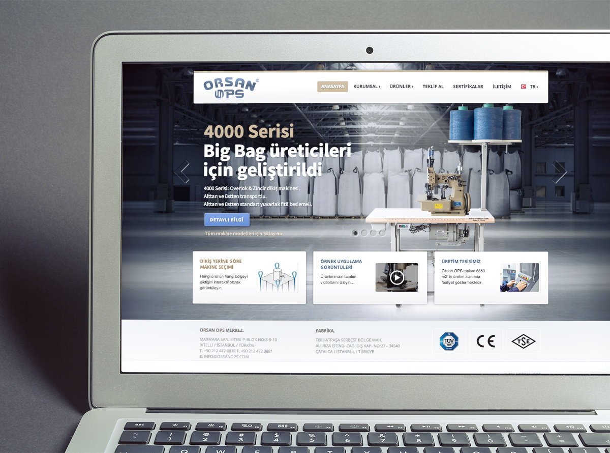 ORSAN OPS Web Sitesi Tasarımı ve Uygulanması